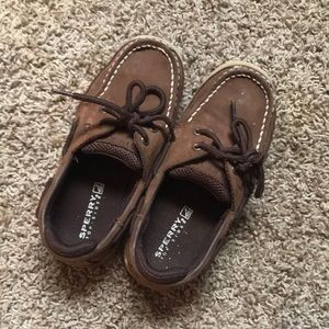 Boys Size 1 Sperry lanyard shoes